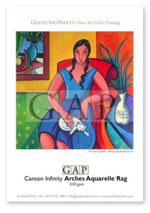 Mostra paper Canson Infinity Aquarelle Rag impresa en giclée per GraficArtPrints. © Guillermo Martí Ceballos
