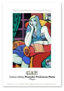Giclée printed sample on Canson Infinity PhotoArt ProCanvas by GraficArtPrints © Guillermo Martí Ceballos