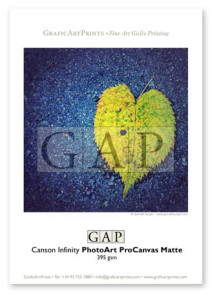 Giclée printed sample on Canson Infinity PhotoArt ProCanvas by GraficArtPrints © Queralt Sunyer