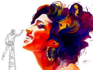 David Badia Ferrer, Amy Winehouse giclée print