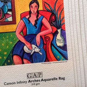 Obras impresas en Canson Infinity Aquarelle Rag