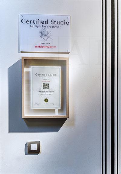 GraficArtPrints obtiene el Certified Studio de Hahnemühle