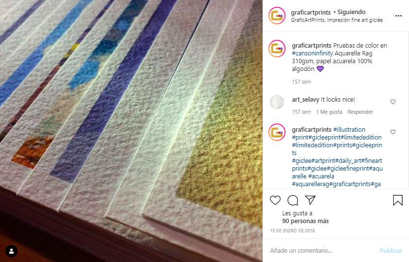 """Imatge original del nostre post Instagram, la qual va ser """"manllevada"""" per Dicprinting"""