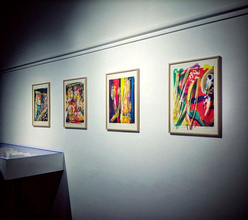 """Exhibition """"Estrats. Continuïtat i variacions"""" by Quim Corominas in Cultural center of la Mercè of Girona"""