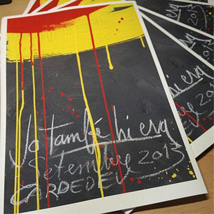 """""""Jo també hi era"""": el mural de Cardedeu. Impressió giclée sèrie limitada de l'obra de Jordi Castells."""