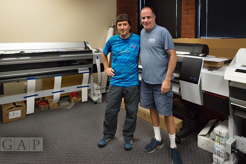 Jesús Coll, printmaker de GraficArtPrints amb John Bilotta, màster printmaker de Nash Editions