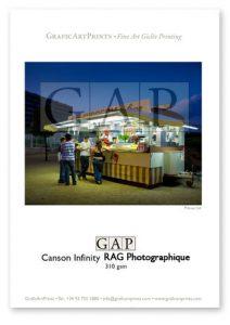 Muestra impresa en giclée sobre Canson Infinity RAG Photographique 310gsm por GraficArtPrints. © Jesús Coll