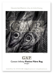 Muestra papel Canson Infinity Platine Fibre Rag impresa en giclée por GraficArtPrints © Queralt Sunyer