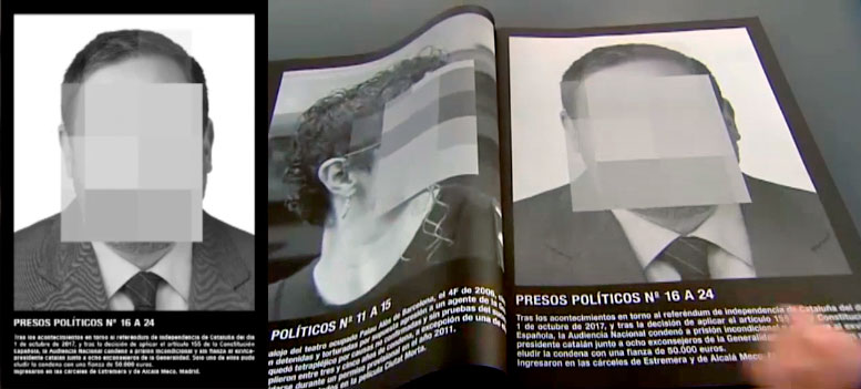 """La'obra """"Presos Políticos en España"""" de Santiago Sierra"""