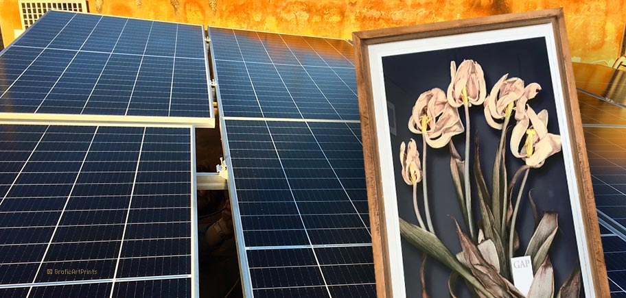 GAP print your art works with renewable solar energy